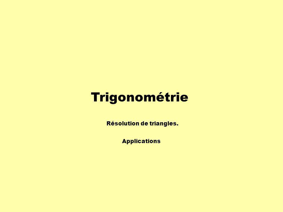 Conclusion Les rapports trigonométriques dans le triangle rectangle sont très utiles pour déterminer des mesures dans plusieurs situations.