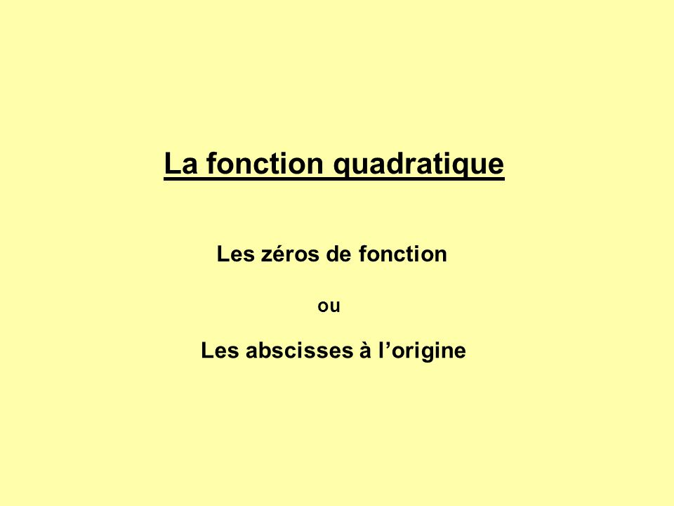 2x + 1 = 0 - 1 2x = - 1 22 x + 1 = 0 - 1 x 1 = -1 On pose alors les conditions suivantes: si ( x + 1 ) = 0 si ( 2x + 1) = 0 f(x) = 2x 2 + 3x + 1Vérifions: 0 = 2 X (-1) 2 + 3 X -1 + 1 0 = 2 X (- 0,5 ) 2 + 3 X - 0,5 + 1 x 1 = - 1 x 2 = - 0,5 vrai donc - 0,5 et -1 sont bien les deux valeurs de x qui annulent le polynôme.