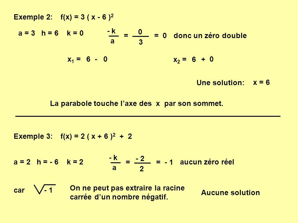 Avec la forme générale: Procédé 1 : Factoriser le polynôme et utiliser la loi du produit nul.