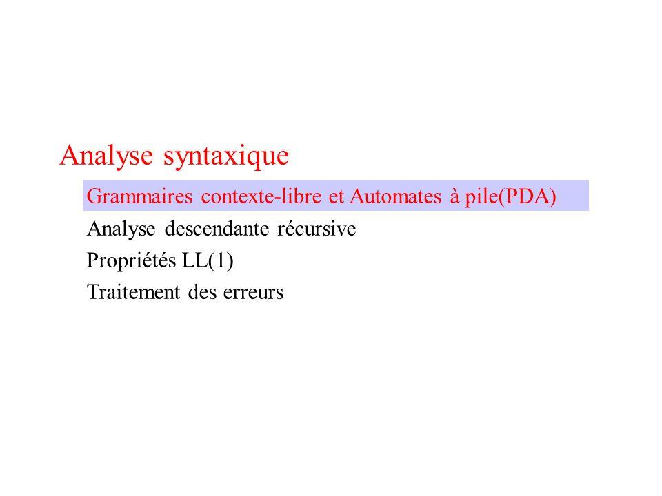 Comment analyser les séquences.Modèle production: A = a B c.