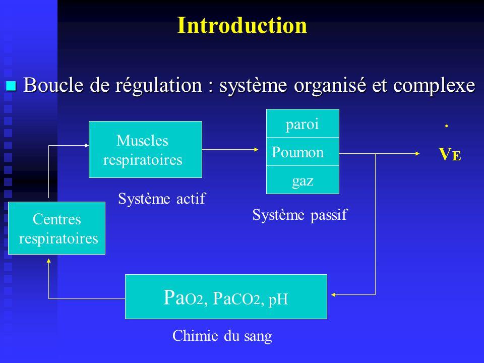Générateur de rythme bulbe Augmentation du rythme durant lexercice Stimulation des M respiratoires