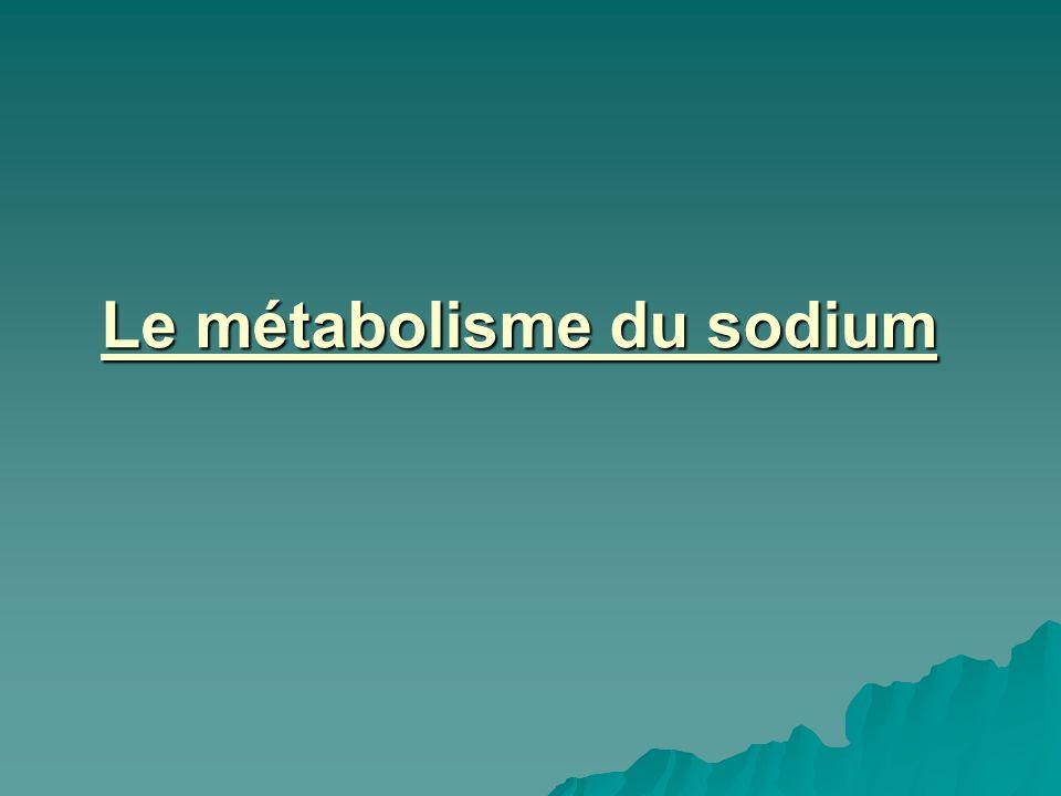 Le métabolisme du sodium