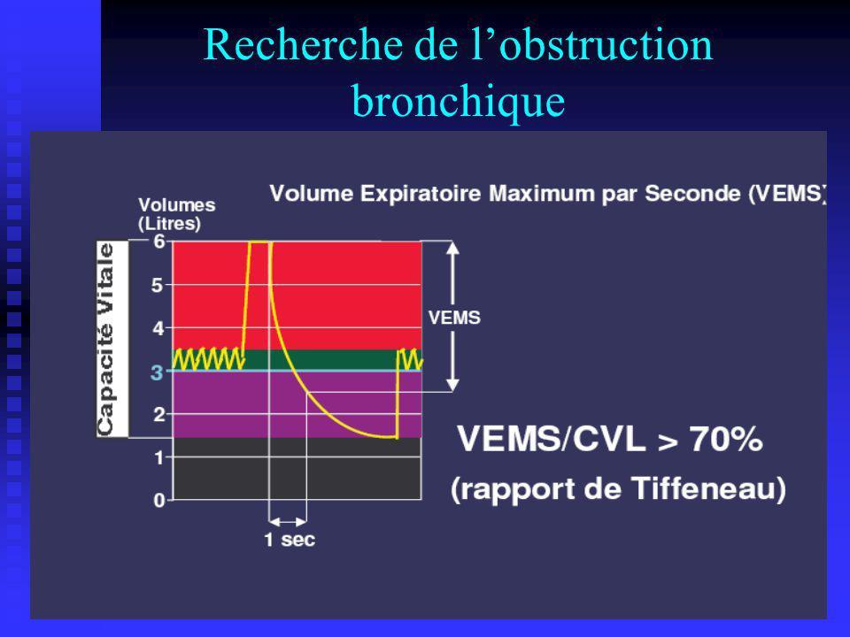 Recherche de lobstruction bronchique