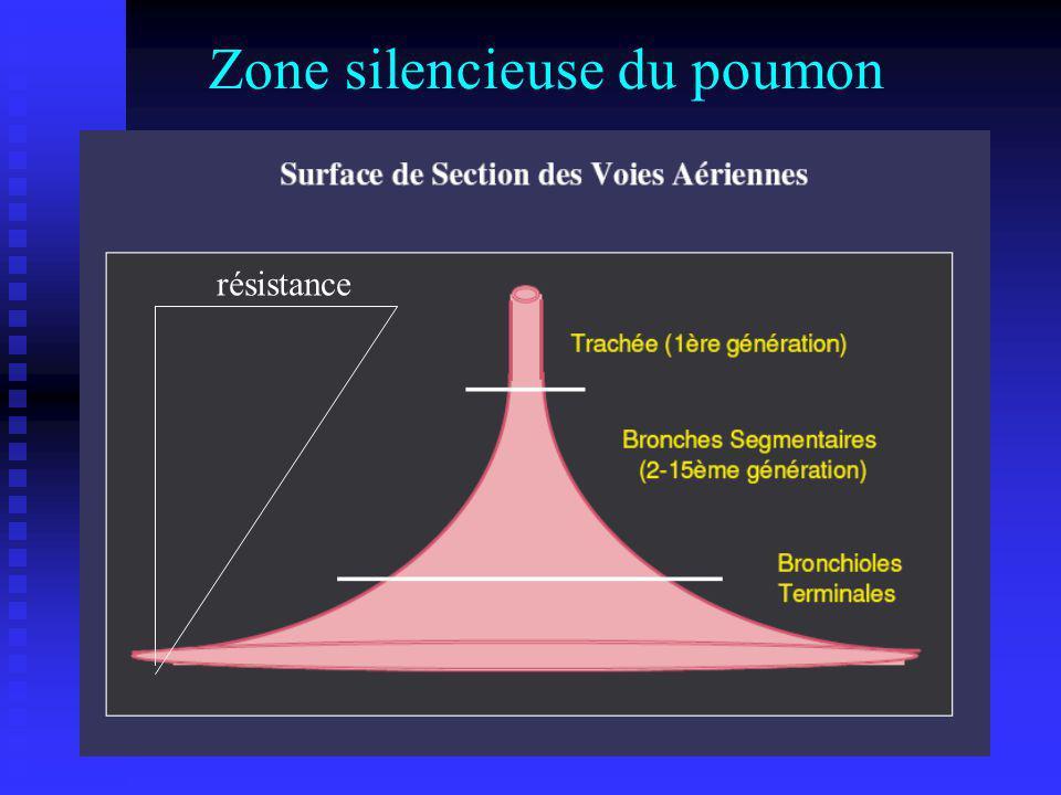 Zone silencieuse du poumon résistance