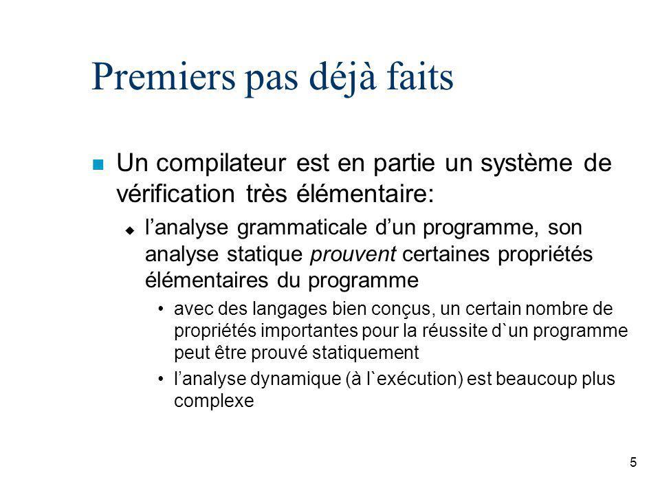 16 Example de traduction Process Agent[A_U, U_A, A_A, req]: (a:Agent, u:User):= U_A !u !a !conReq ?dU:User; req !dU ?dA; A_A !a !dA !conReq !dU; ( A_A !dA !a !conConf !ring; A_U !a !u !conConf !ring; exit [] (* - OR - *) A_A !dA !a !conConf !busy; A_U !a !u !conConf !busy; exit ) endproc Process User[ dial, U_A, A_U, ringBack, busyTone ]: (a:Agent, u:User):= dial !u ?dU:User; U_A !u !a !conReq !dU; ( A_U !a !u !conConf !ring; ringBack; exit [] (* - OR - *) A_U !a !u !conConf !busy; busyTone; exit ) endproc