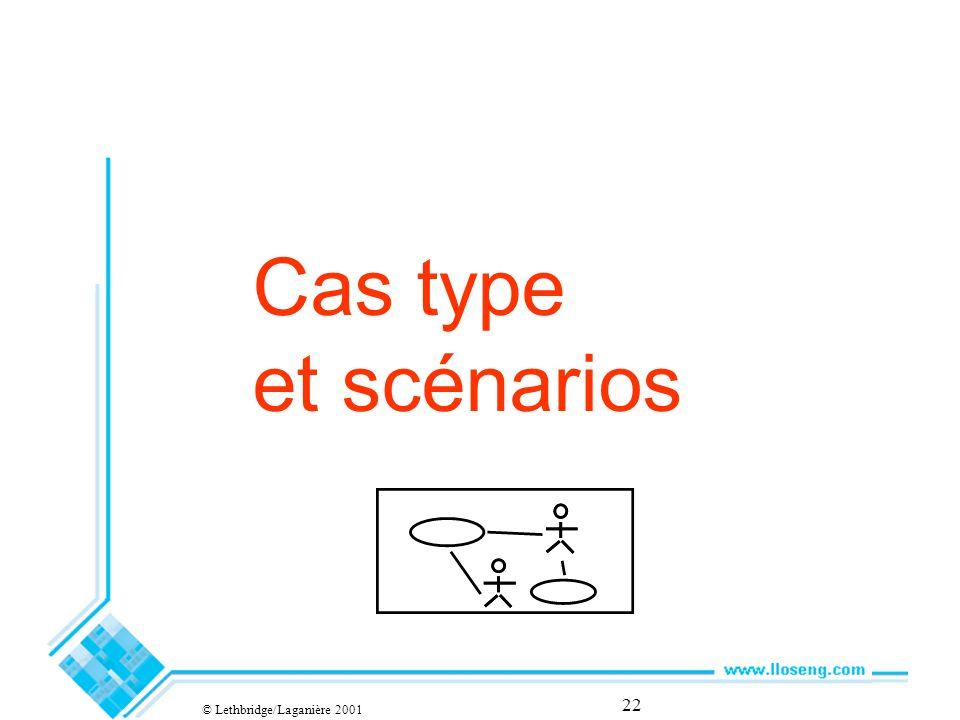 22 Cas type et scénarios © Lethbridge/Laganière 2001