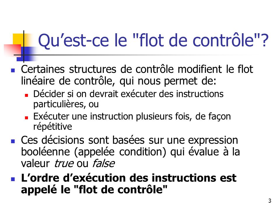 44 Comparaison de while et do condition évaluée instructions true false condition évaluée instructions true false boucle while boucle do