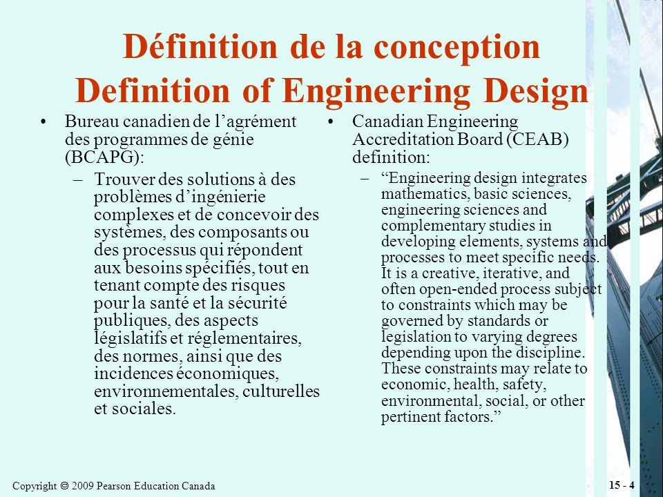 Copyright 2009 Pearson Education Canada 15 - 25 Organizing Effective Design Teams Design is creative as well as social process.