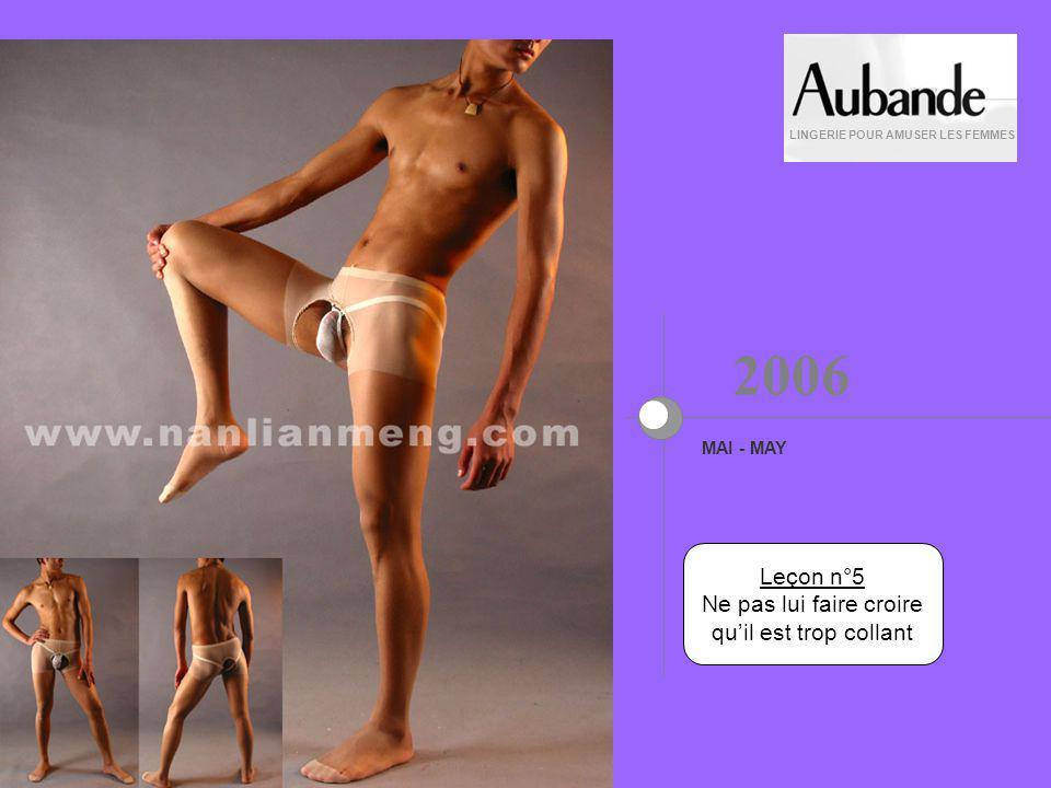 Leçon n°4 En avril, le couvrir dun fil LINGERIE POUR AMUSER LES FEMMES AVRIL - APRIL 2006