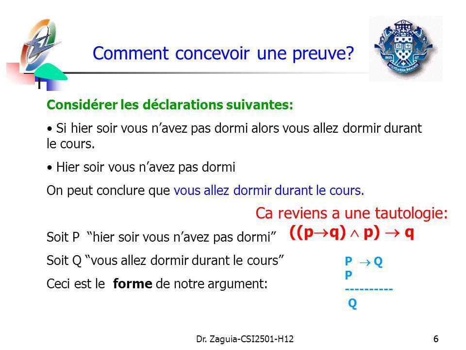 Dr.Zaguia-CSI2501-H1257 Erreurs a éviter Dautres erreurs assez communes: 1.