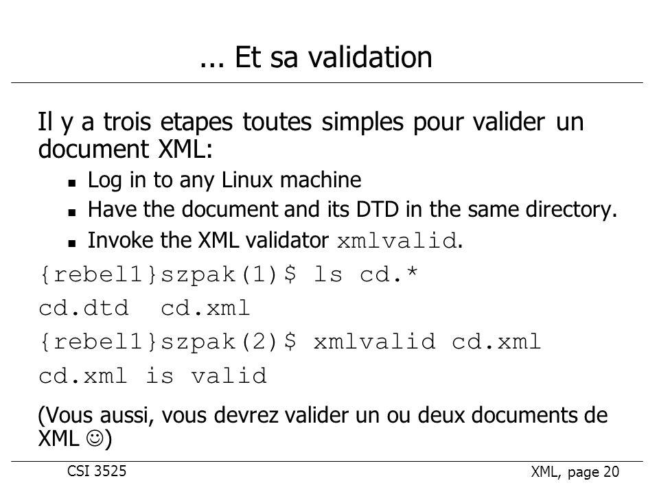 CSI 3525 XML, page 20...