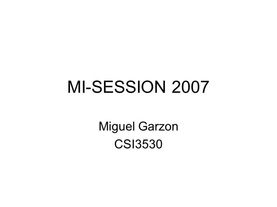 MI-SESSION 2007 Miguel Garzon CSI3530