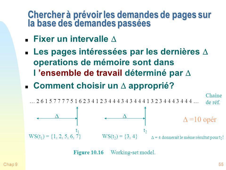 Chap 955 Chercher à prévoir les demandes de pages sur la base des demandes passées Fixer un intervalle Les pages intéressées par les dernières operati