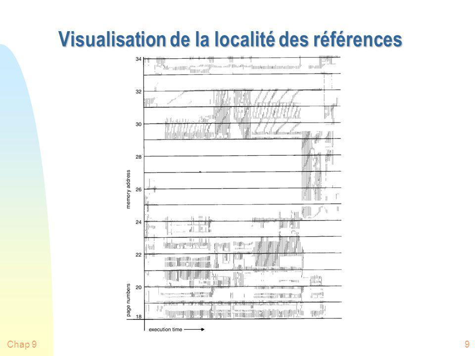 Chap 930 Comparaison OPT-LRU n Exemple: Un processus de 5 pages sìl n`y a que 3 pages physiques disponibles.