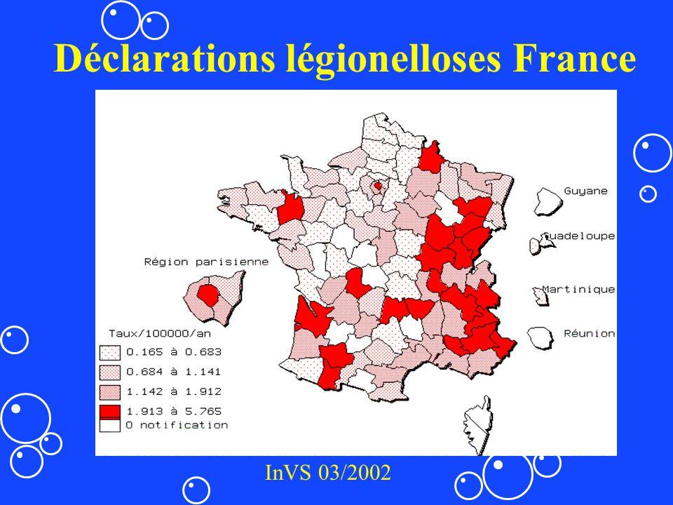 InVS 03/2002 Déclarations légionelloses France