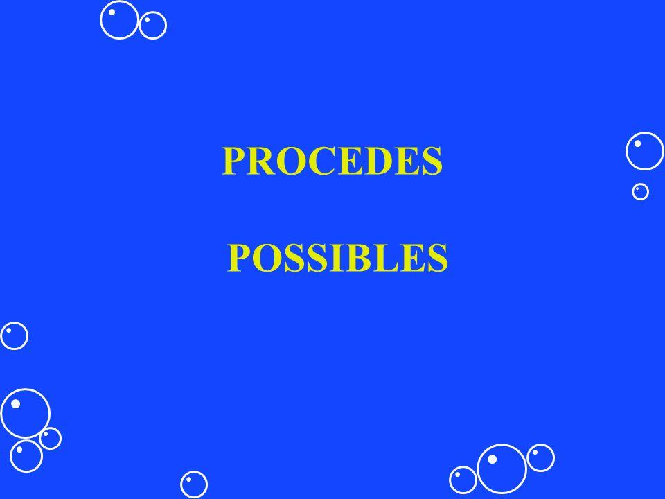 PROCEDES POSSIBLES
