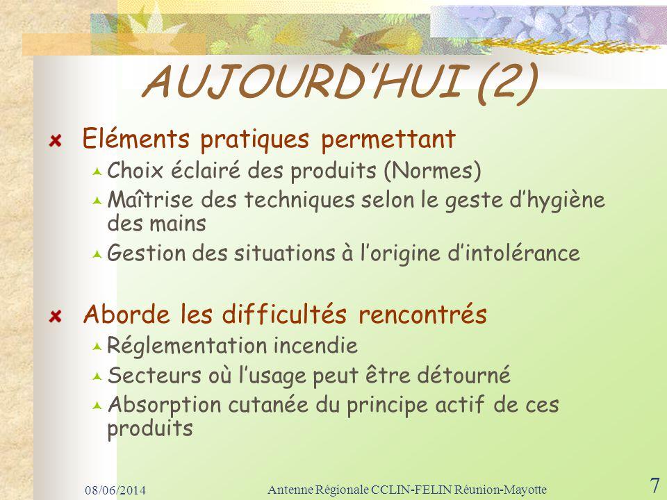 08/06/2014 Antenne Régionale CCLIN-FELIN Réunion-Mayotte 28 AUDIT REGIONAL 2008 (1) CHD, GHSR, CSB, CHGM, EPSMR, C.