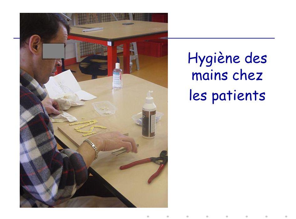 Hygiène des mains chez les patients