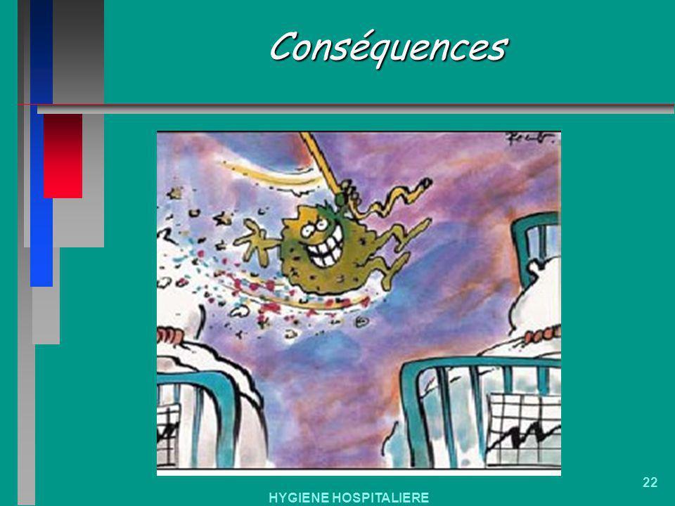 HYGIENE HOSPITALIERE 22 Conséquences