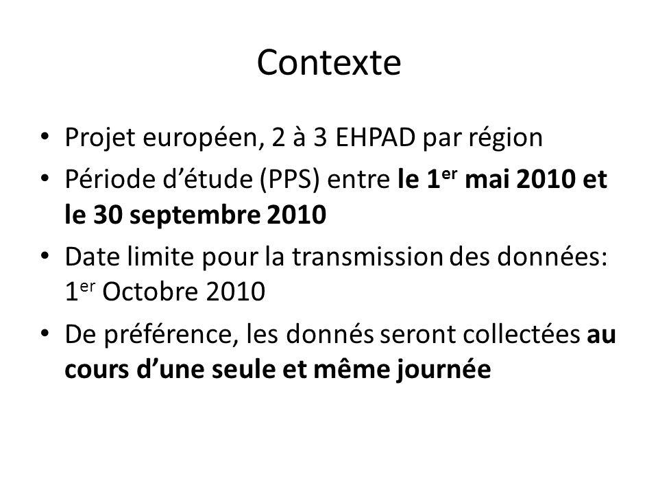 Résultats régionaux 4 EHPAD soit 375 résidents enquêtés à la Réunion 6 infections ont été recensées dont 2 urinaires, 2 cutanées, 1 pulmonaire et 1 ORL.