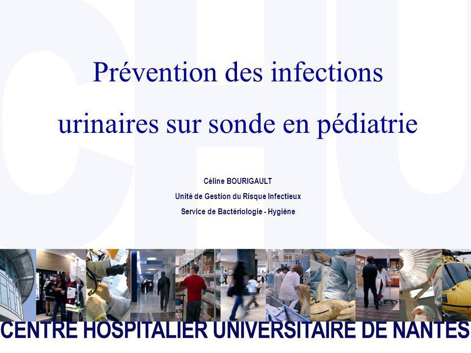CENTRE HOSPITALIER UNIVERSITAIRE DE NANTES Page 1 Prévention des infections urinaires sur sonde en pédiatrie Céline BOURIGAULT Unité de Gestion du Risque Infectieux Service de Bactériologie - Hygiène