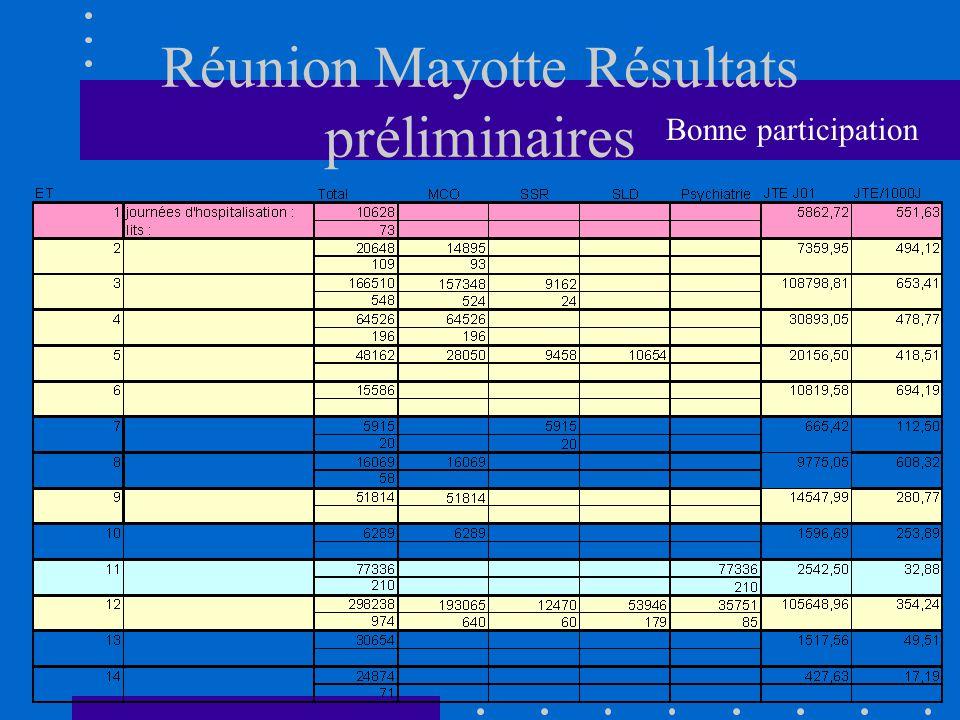 Réunion Mayotte Résultats préliminaires Bonne participation