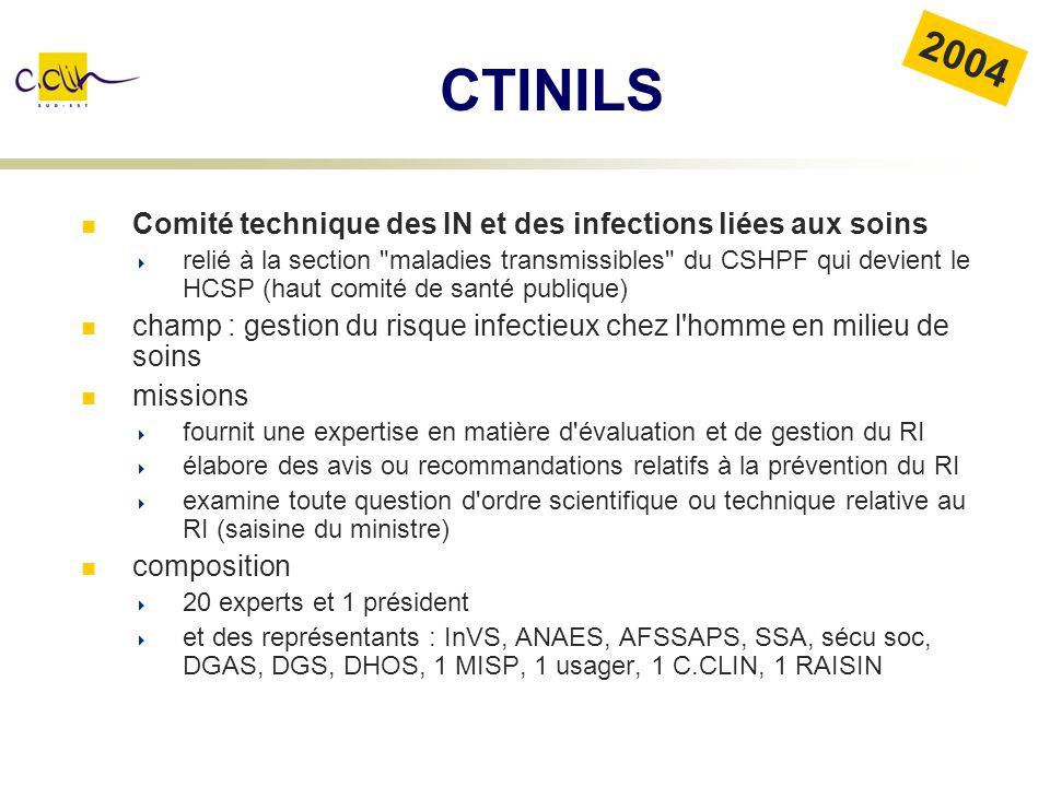 CTINILS Comité technique des IN et des infections liées aux soins relié à la section