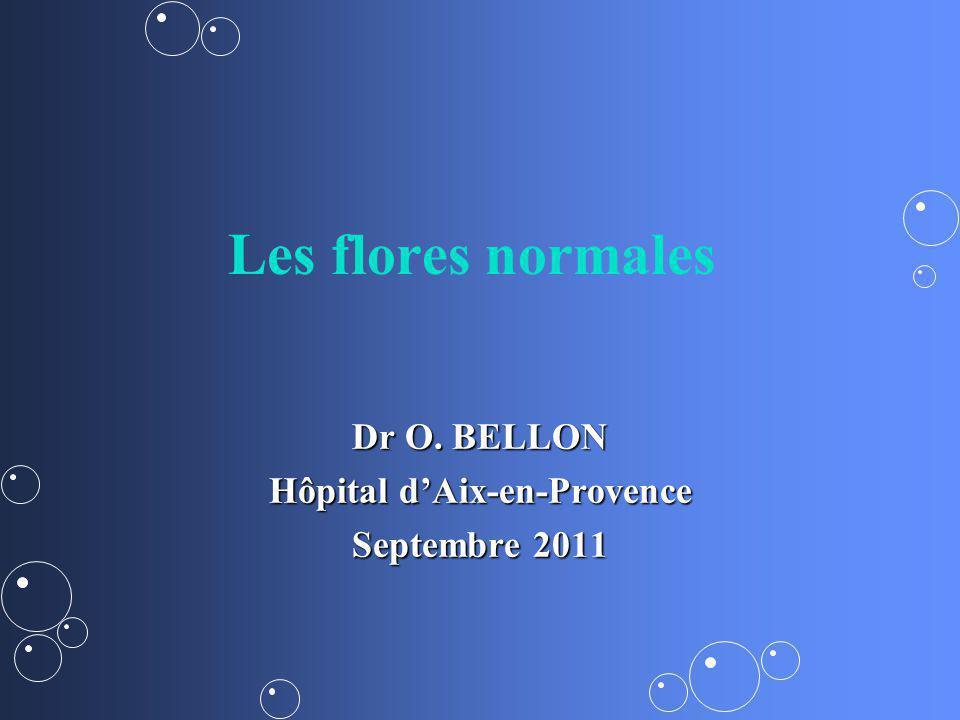 Les flores normales Dr O. BELLON Hôpital dAix-en-Provence Septembre 2011