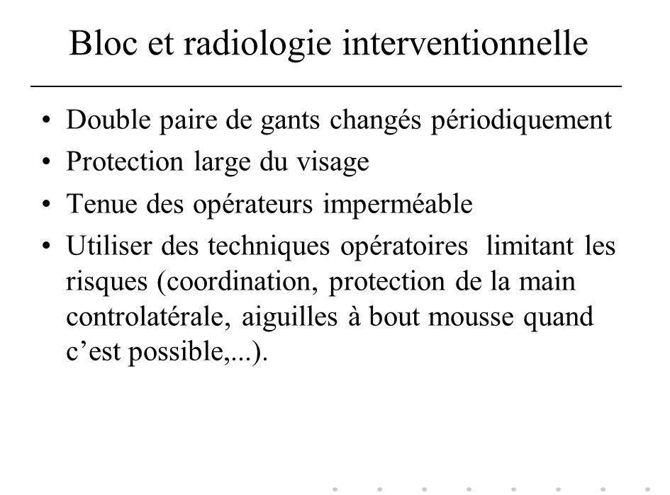 Bloc et radiologie interventionnelle Double paire de gants changés périodiquement Protection large du visage Tenue des opérateurs imperméable Utiliser