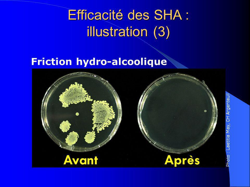 Efficacité des SHA : illustration (3) Friction hydro-alcoolique Photo : Laetitia May, CH Argenteuil