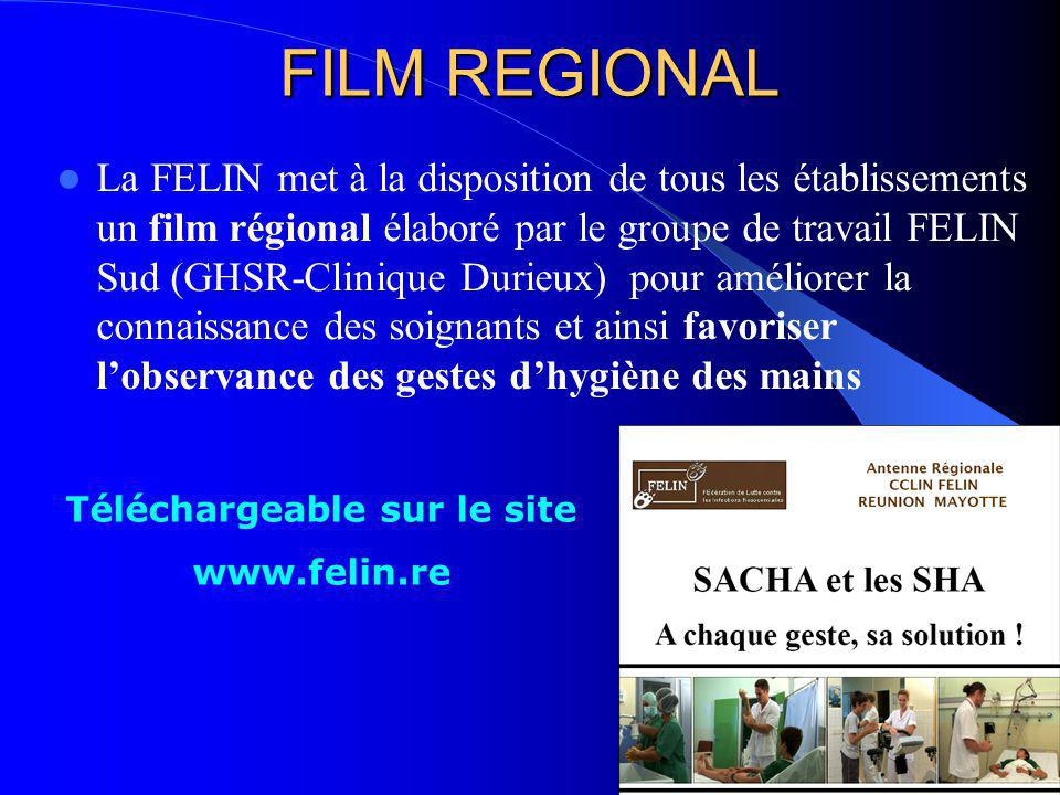 FILM REGIONAL La FELIN met à la disposition de tous les établissements un film régional élaboré par le groupe de travail FELIN Sud (GHSR-Clinique Duri