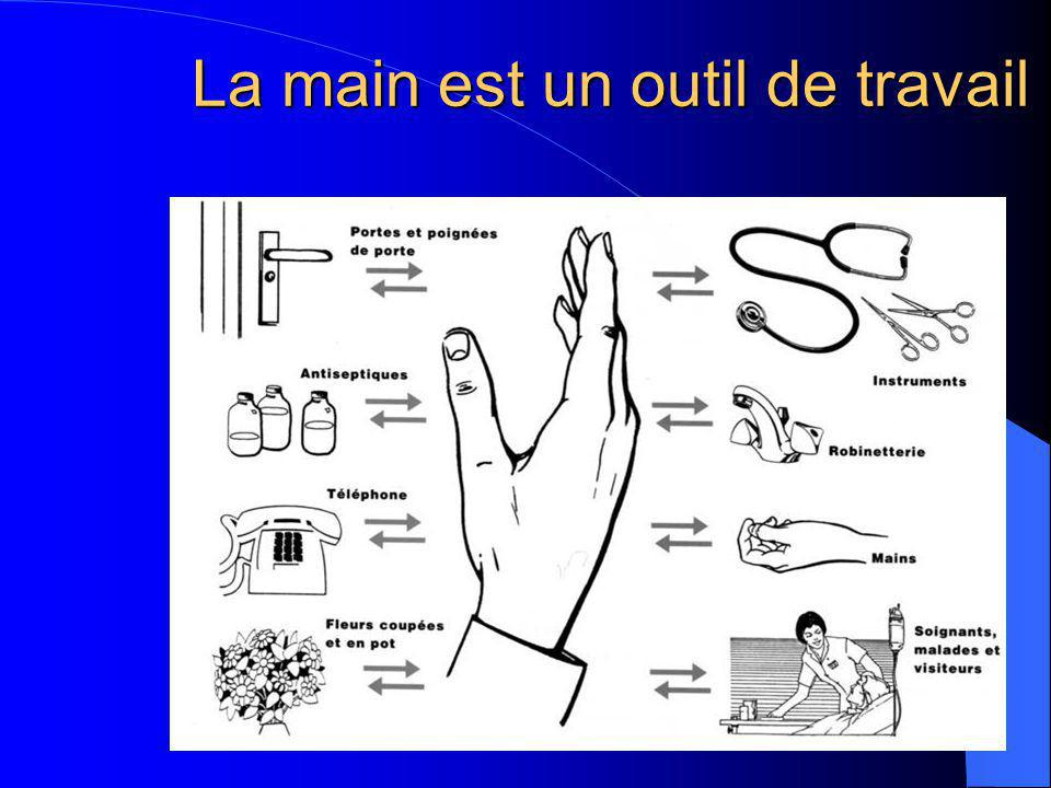 Lavage avec une solution moussante antiseptique Photo : Laetitia May, CH Argenteuil Efficacité des SHA : illustration (2)