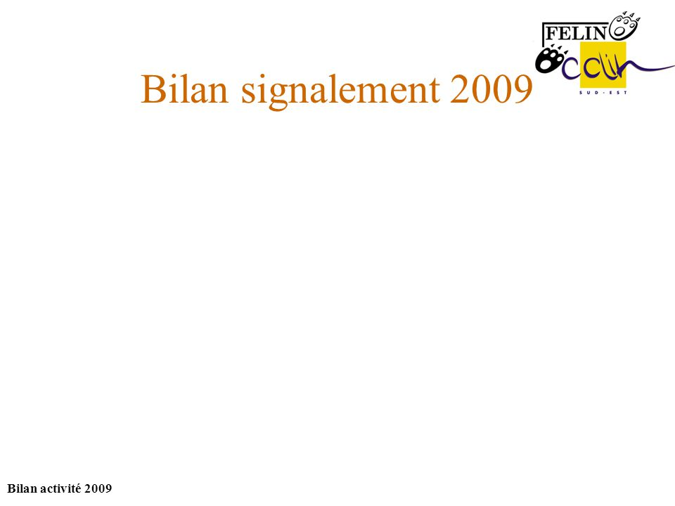 Bilan activité 2009 Bilan signalement 2009