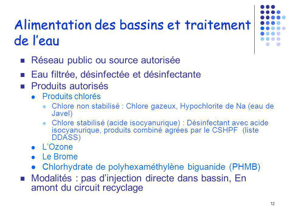 11 Thalassothérapie Les piscines d eau de mer ne subissent en général aucun traitement.
