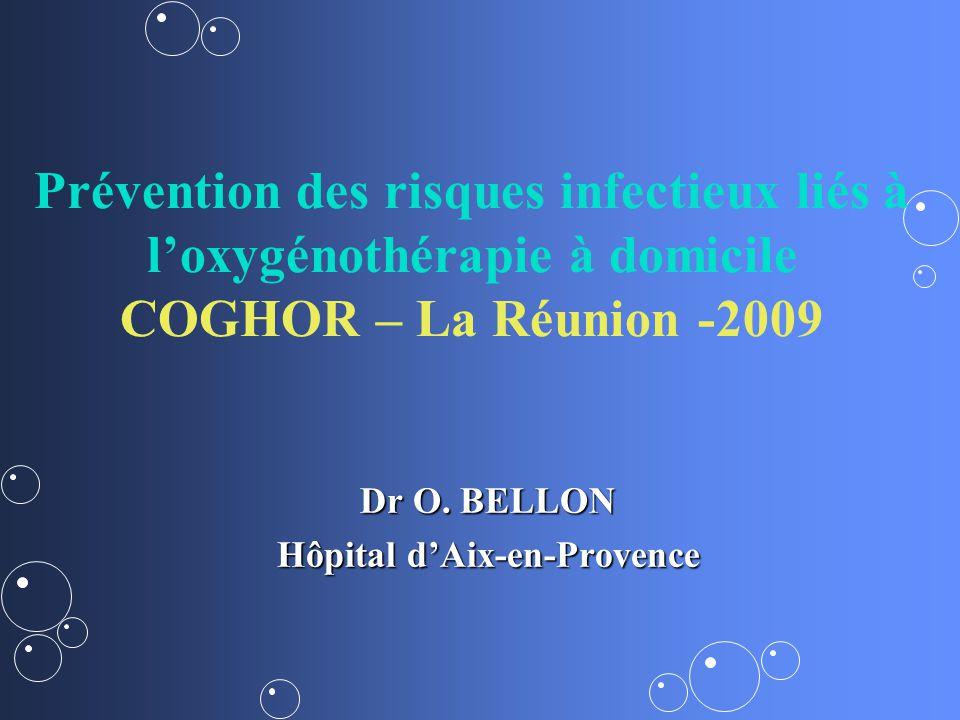 Prévention des risques infectieux liés à loxygénothérapie à domicile COGHOR – La Réunion -2009 Dr O. BELLON Hôpital dAix-en-Provence
