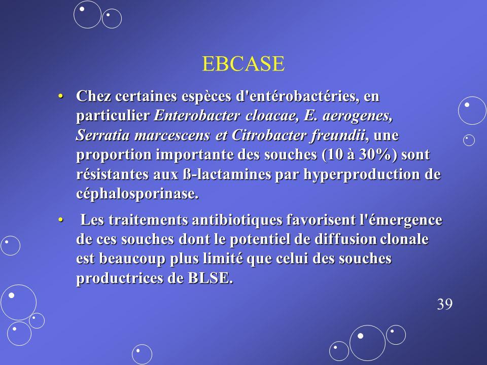 38 EVR Enterococcus faecalis est naturellement résistant, y compris à bas niveau :Enterococcus faecalis est naturellement résistant, y compris à bas n