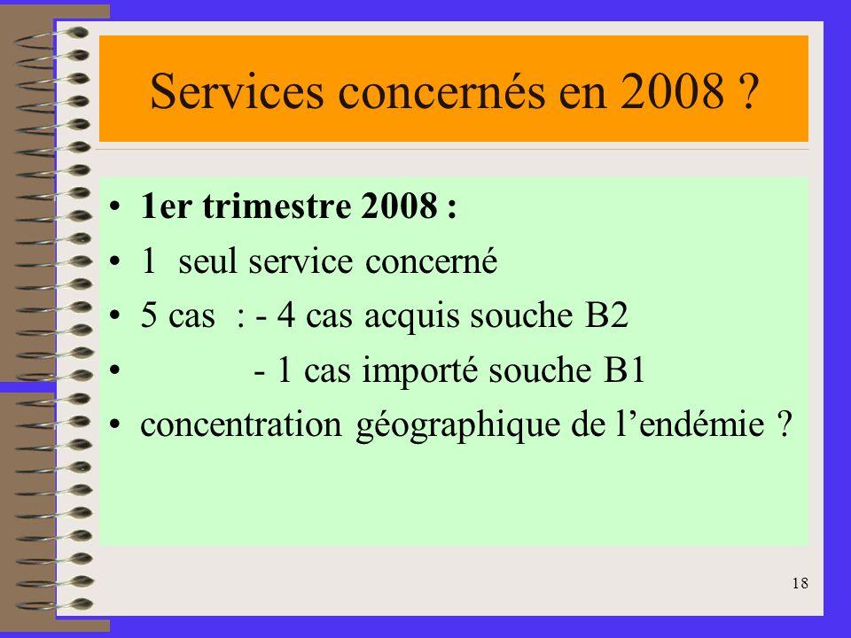 18 Services concernés en 2008 .
