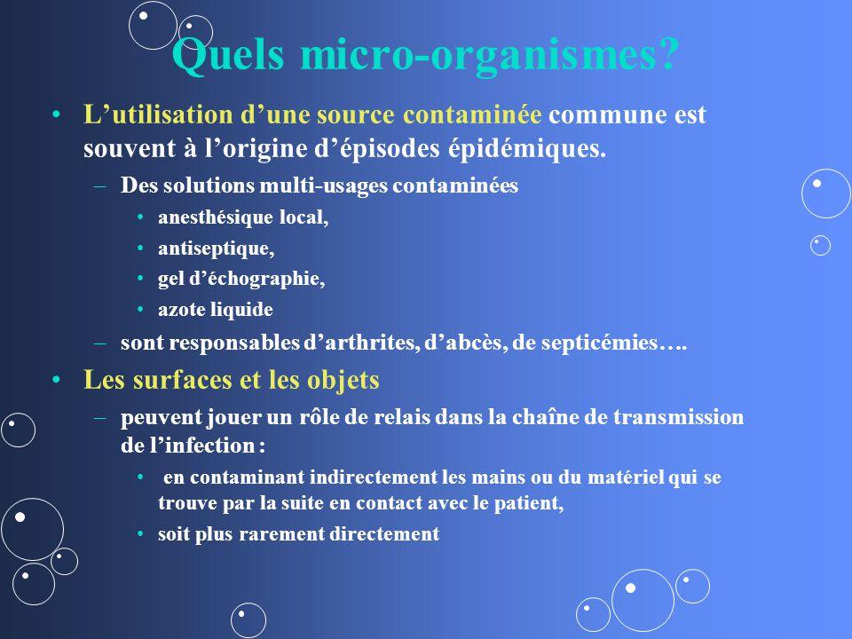 Quels micro-organismes.