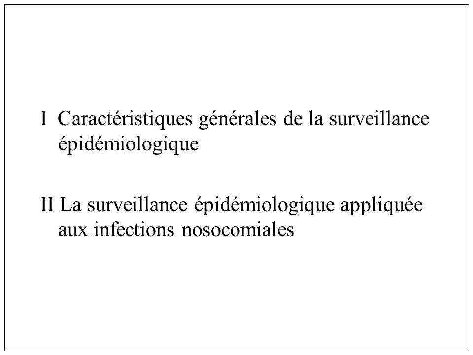 Résultats: Infections nosocomiales 17 820 malades infectés, 19 296 infections Taux de prévalence des infectés 4.97% Taux de prévalence des infections: 5.38% 3 721 (19.3%) IN étaient importées dun autre ETS