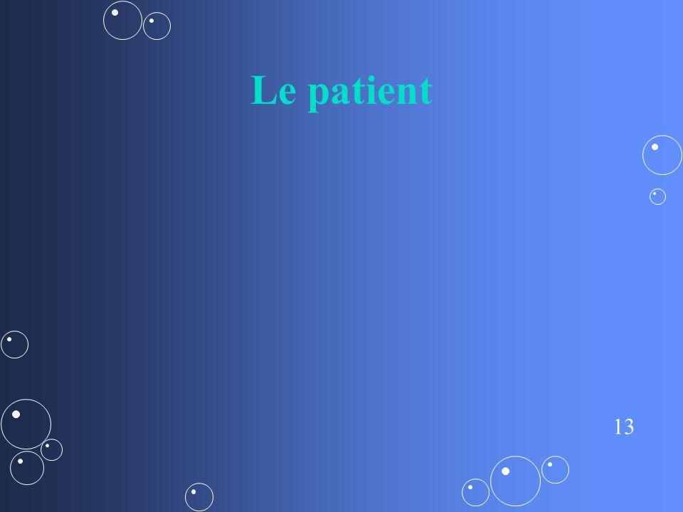 13 Le patient