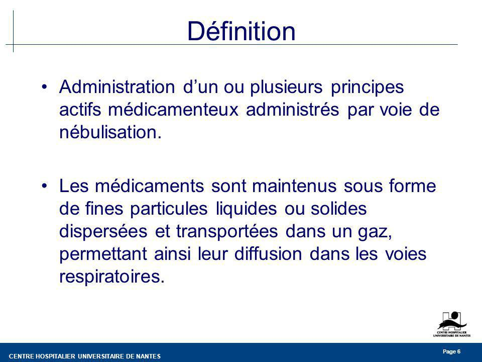 CENTRE HOSPITALIER UNIVERSITAIRE DE NANTES Page 27 Recommandations Traitement du matériel de ventilation en anesthésie réanimation (CCLIN SO - 1997) Recommandations concernant lhygiène en anesthésie (SFAR - 1997) Recommandations pour la prévention de la légionellose nosocomiale (CCLIN SO - 2001)