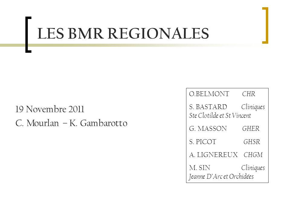 LES BMR REGIONALES 19 Novembre 2011 C. Mourlan – K.
