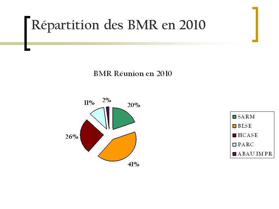 Répartition des BMR en 2010