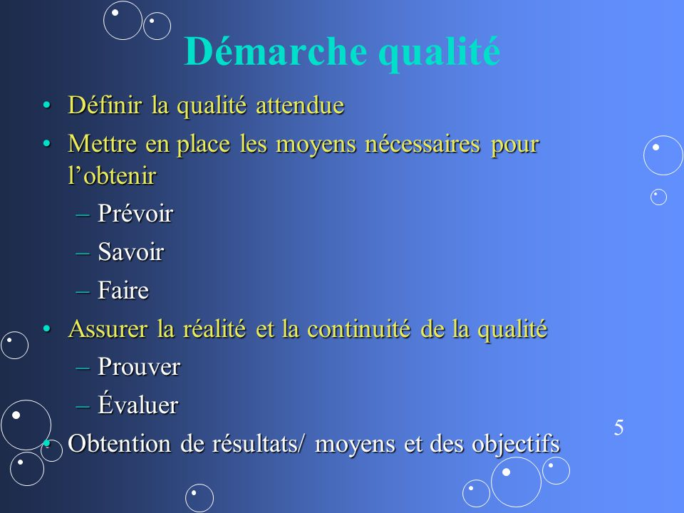6 Démarche qualité Amélioration continuelleAmélioration continuelle Roue de Deming…..Roue de Deming…..