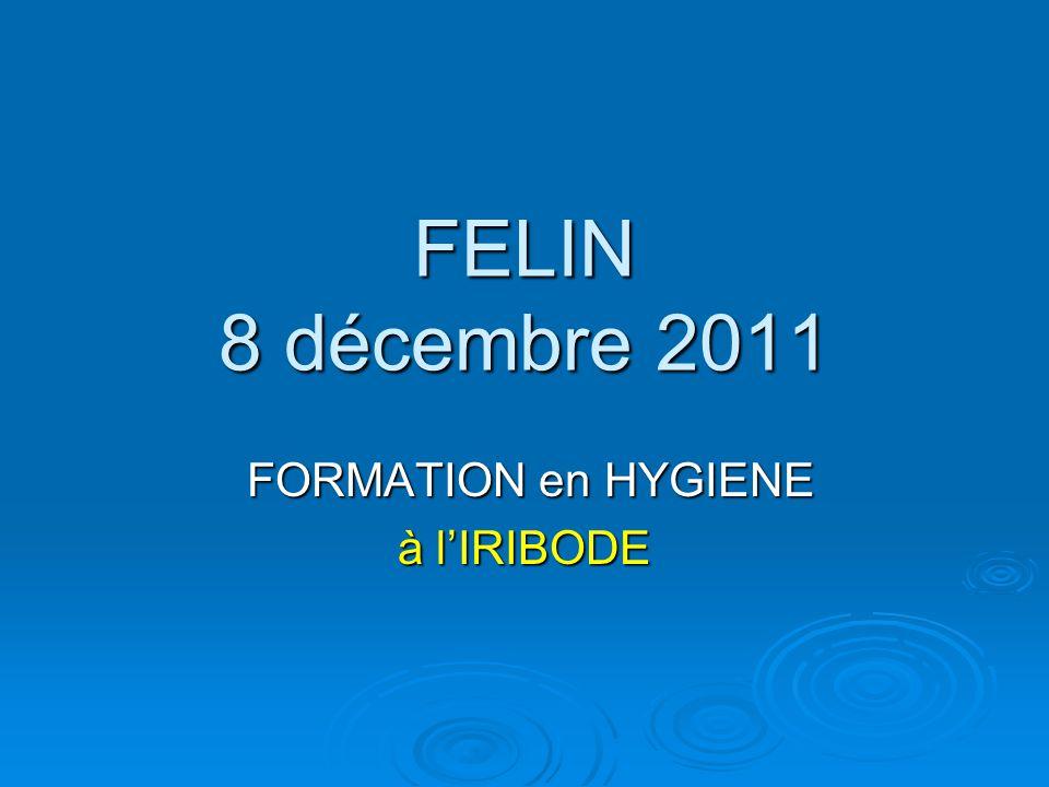 FELIN 8 décembre 2011 FORMATION en HYGIENE FORMATION en HYGIENE à lIRIBODE
