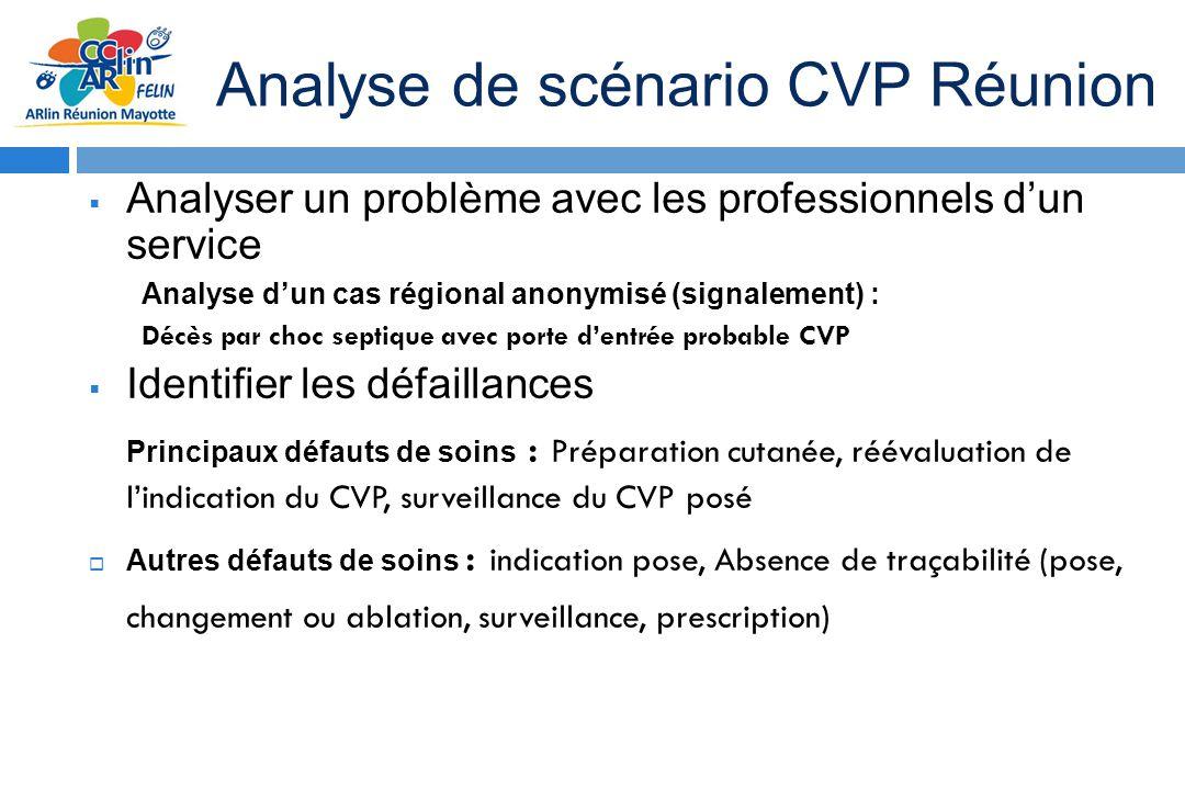 Analyse de scénario CVP Réunion Analyser un problème avec les professionnels dun service Analyse dun cas régional anonymisé (signalement) : Décès par