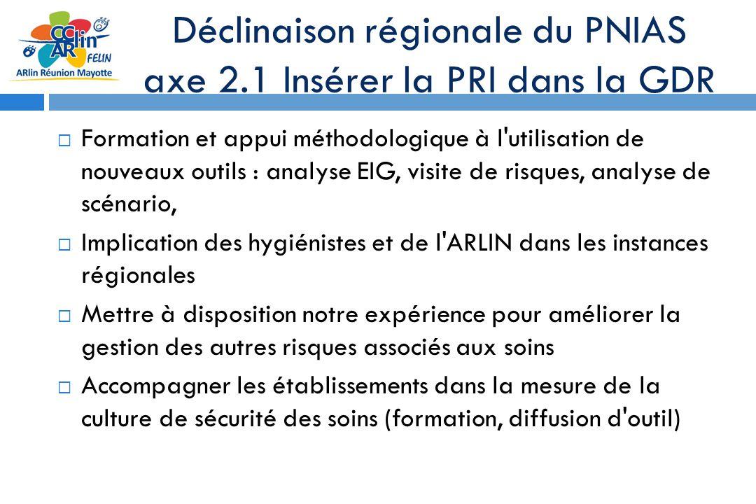 Déclinaison régionale du PNIAS axe 2.1 Insérer la PRI dans la GDR Formation et appui méthodologique à l'utilisation de nouveaux outils : analyse EIG,