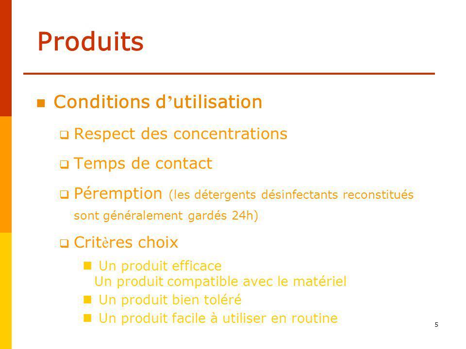 4 Produits Détergents Désinfectants Détergents désinfectants Immersion Surface Lavette lingette prête à lemploi Spray prêt à lemploi ou reconstitué