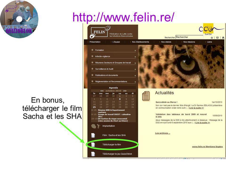 http://www.felin.re/ En bonus, télécharger le film Sacha et les SHA