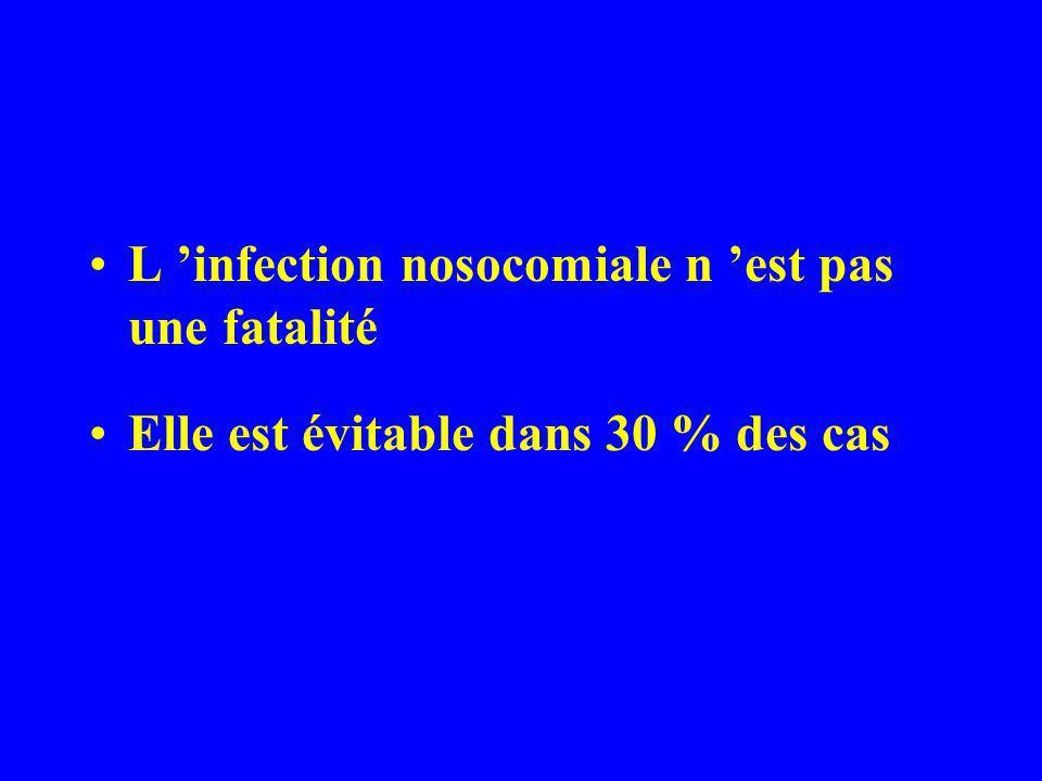L infection nosocomiale est : –l infection contractée à la maternité : qui n était ni présente à l entrée ni en incubation